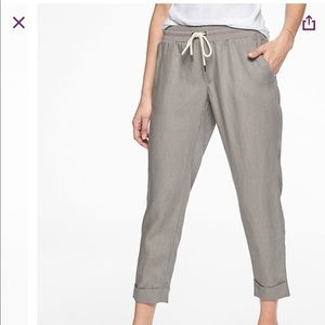 Athleta linen gray ankle pant NWT size 2 tall